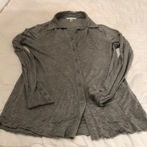 CABI.  Gray, stretchy fabric.